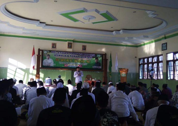 Pelatihan praktisi ruqyah aswaja dan terapi qurani oleh JRA Trenggalek di Gedung NU, Jum'at (17/1/2020)