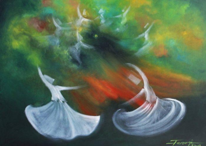 ilustrasi idul fitri rumi tarian sufi nutrenggalek orid