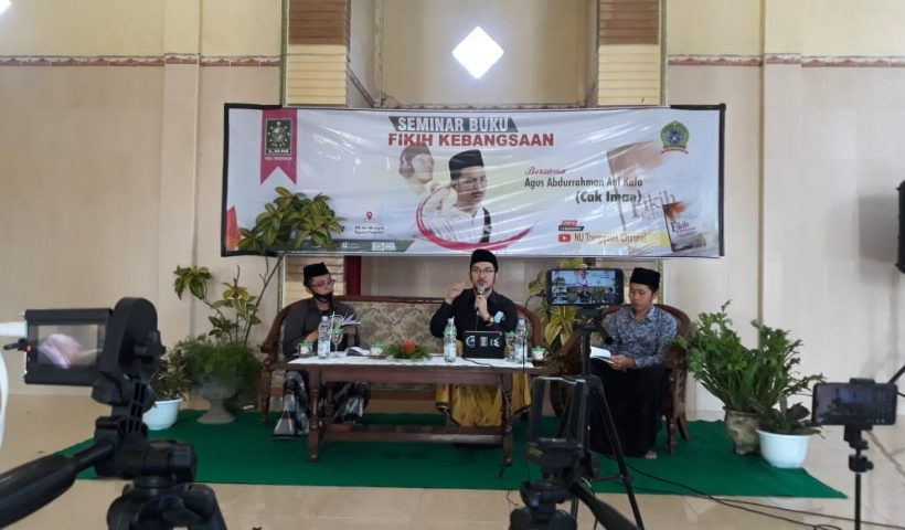 Seminar Buku Fikih Kebangsaan Lirboyo Cak Iman LBM NU Trenggalek di PP Al Mursyid Duwet Ngetal Pogalan 3
