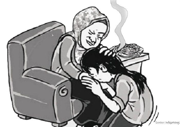 sungkem lebaran ke orang tua di desa nutrenggalek