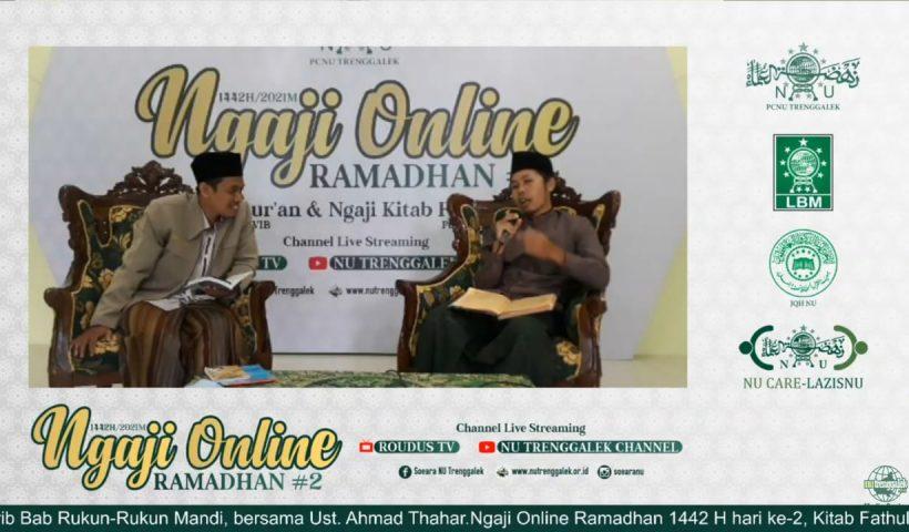 pcnu trenggalek gelar ngaji online ramadhan 1442 h kitab kuning fathul qarib lbm jqh nucare lazisnu media center